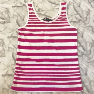 French Connection Pink Striped Tank